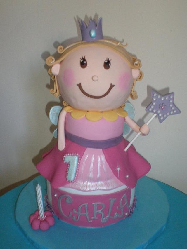tarta hada princesa para Carla