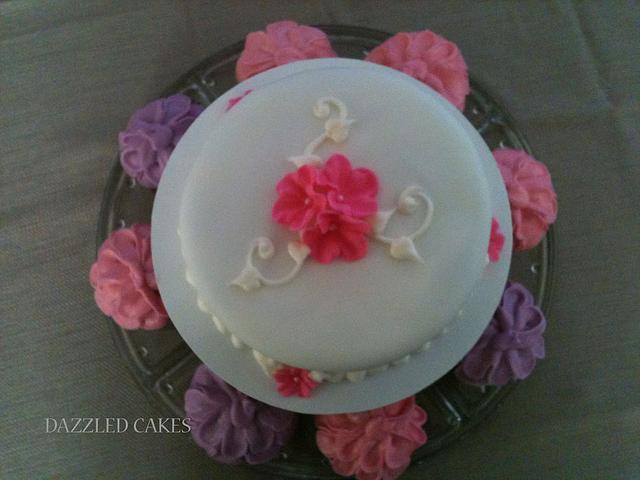 Anniversary or birthday cake