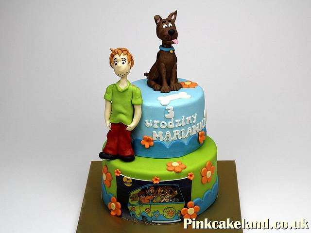 Remarkable Scooby Doo Birthday Cake Cake By Beatrice Maria Cakesdecor Funny Birthday Cards Online Alyptdamsfinfo