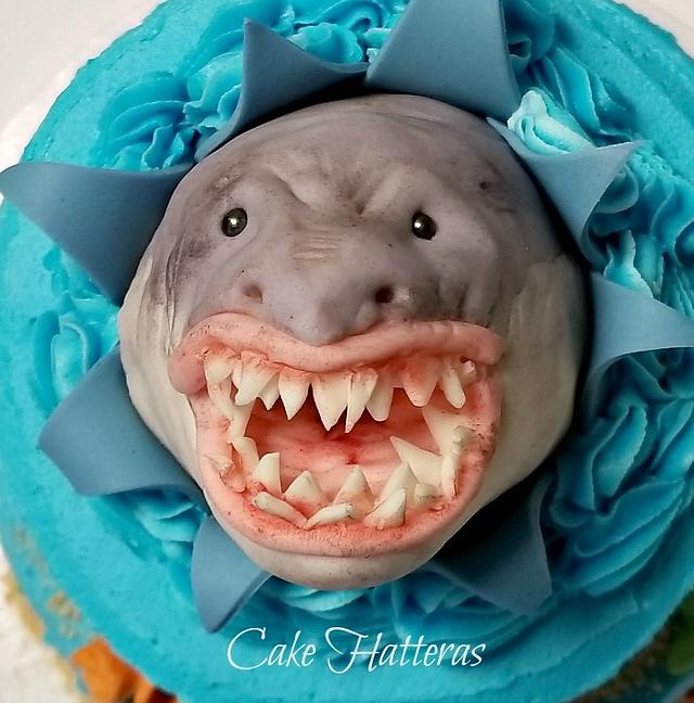 Superb Shark Birthday Cake Cake By Donna Tokazowski Cake Cakesdecor Funny Birthday Cards Online Fluifree Goldxyz
