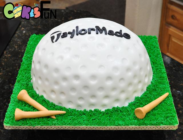 Remarkable Golf Ball Grooms Cake Cake By Cakes For Fun Cakesdecor Personalised Birthday Cards Arneslily Jamesorg