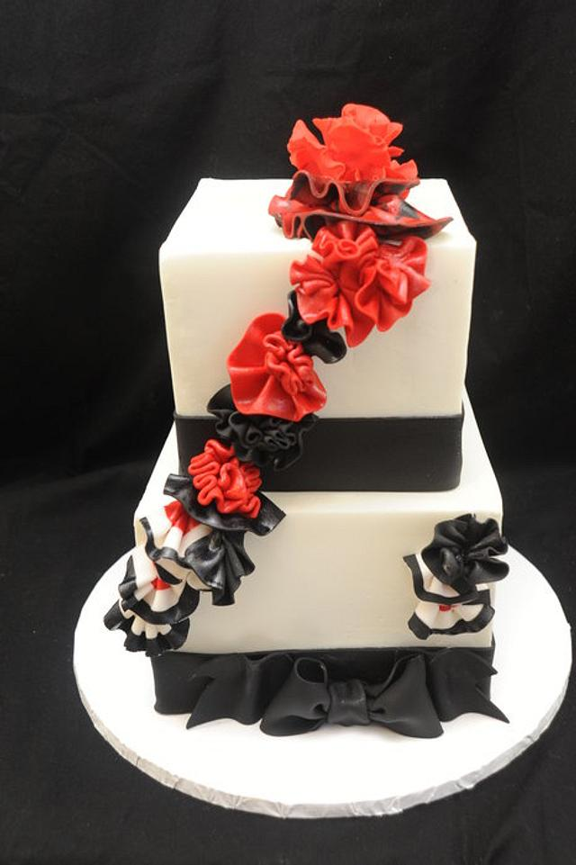 Black and Red Ruffles