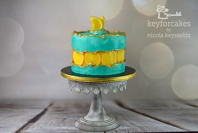 Orange Fault-Line Cake