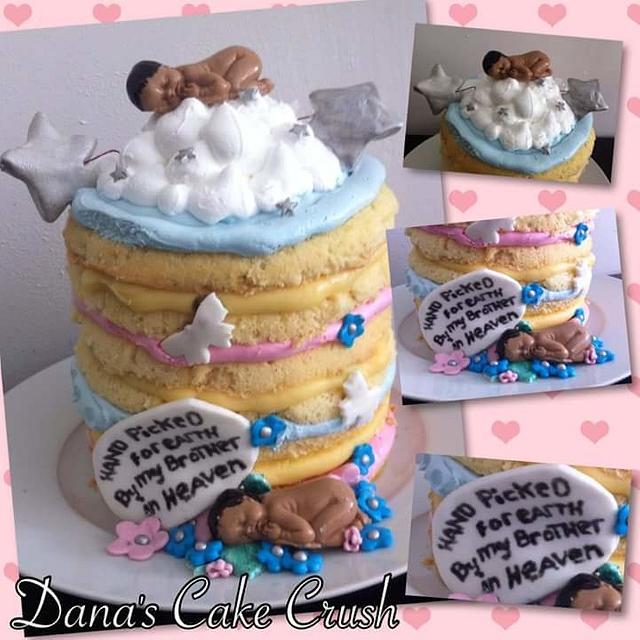 Heaven baby cake