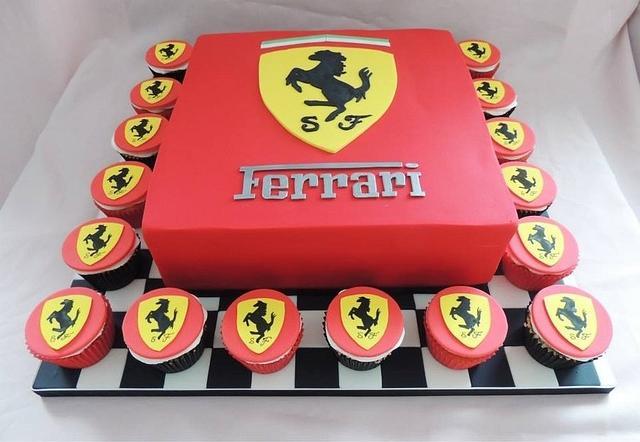 Ferrari Cake Cupcakes Cake By Jameela Cakesdecor