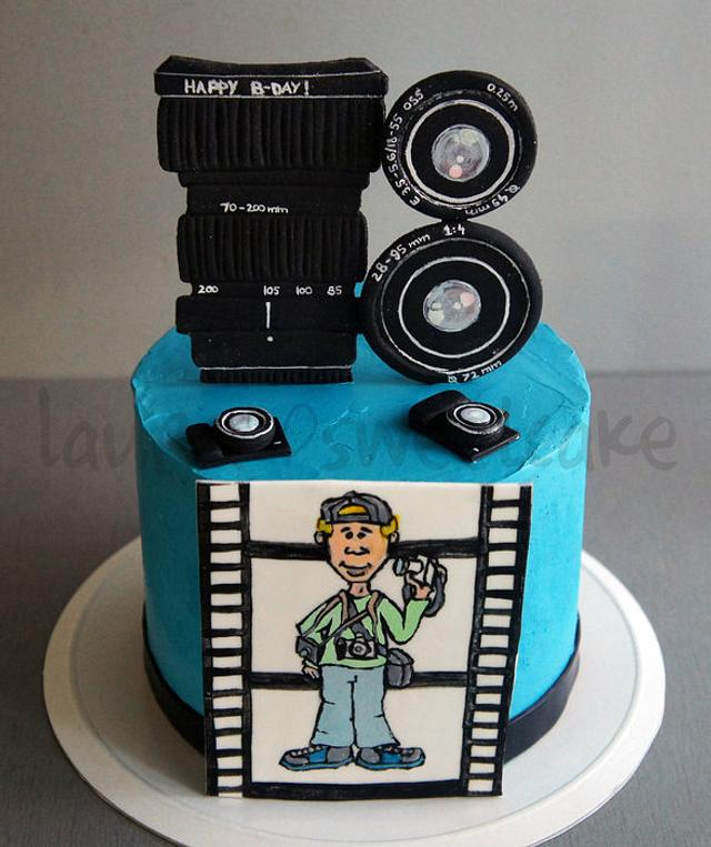 Cool Cake For A Photographer Cake By Laura Dachman Cakesdecor Birthday Cards Printable Trancafe Filternl
