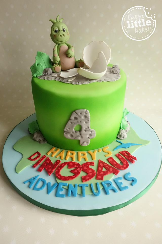 Dinosaur Birthday Cake Cake By Happy Little Baker Cakesdecor