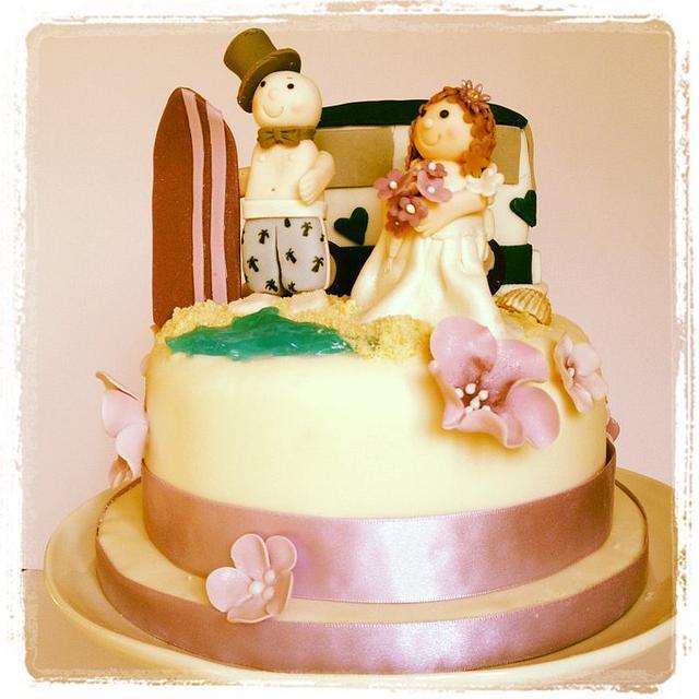 Surfing Wedding Cake