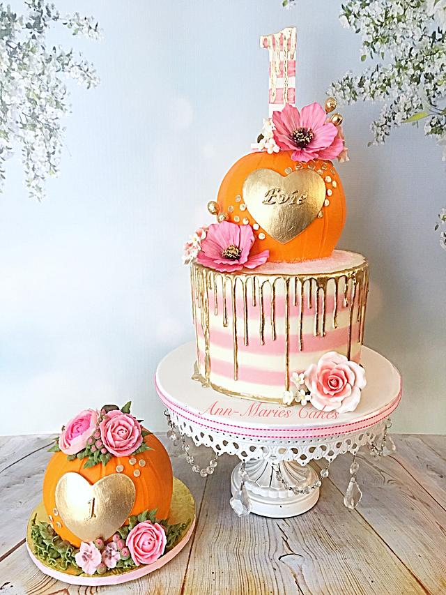 Fine My Little Pumpkin 1St Birthday Cake By Ann Marie Cakesdecor Personalised Birthday Cards Beptaeletsinfo