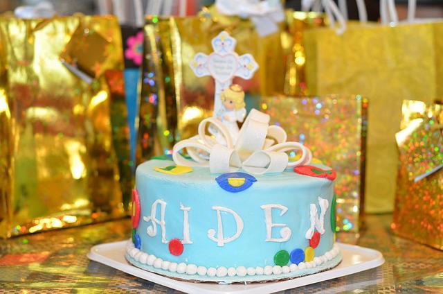 Aiden's baptism cake
