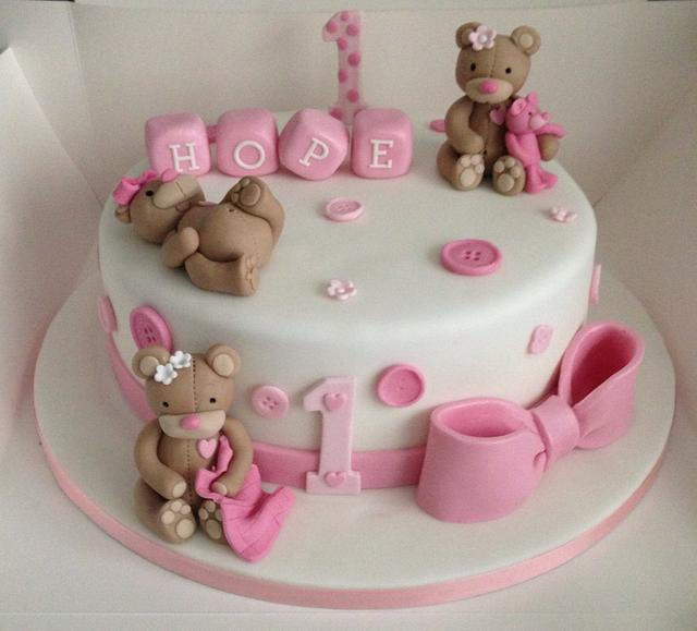 Fine Happy 1St Birthday Cake By Debi At Daisys Delights Cakesdecor Personalised Birthday Cards Sponlily Jamesorg