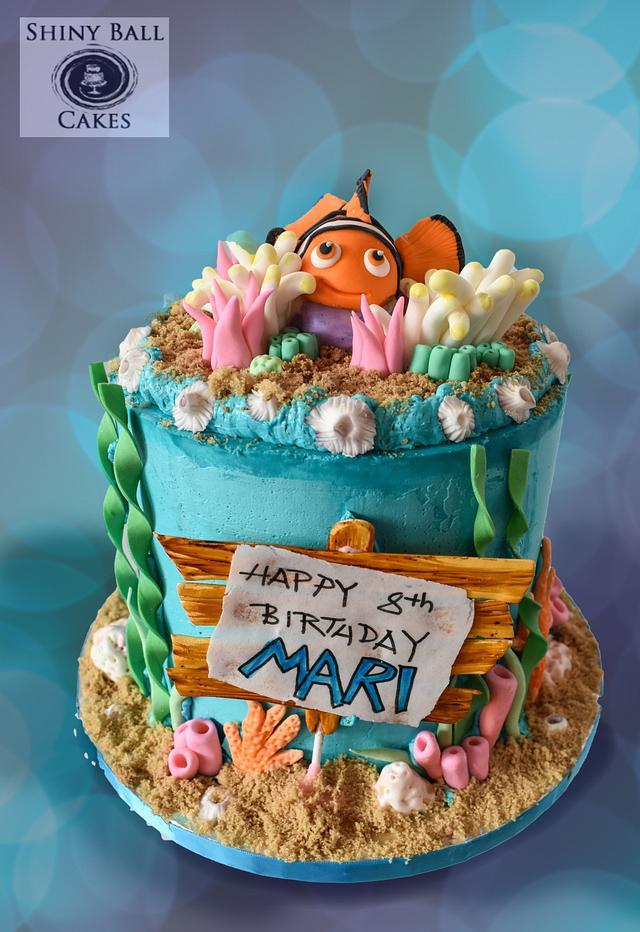 Superb Icing Smiles Nemo Birthday Cake Cake By Shiny Ball Cakesdecor Funny Birthday Cards Online Drosicarndamsfinfo