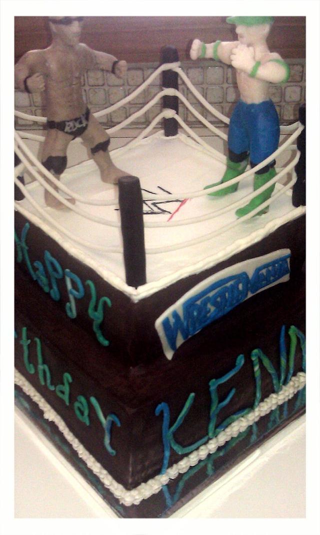 Amazing Wwe Rock Vs John Cena Cake Cake By Bee Dazzled Cakes Cakesdecor Personalised Birthday Cards Veneteletsinfo