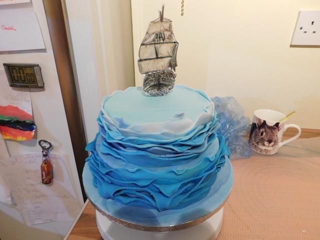 Disney inspired Pirate Fairy & Tinkerbell Cake