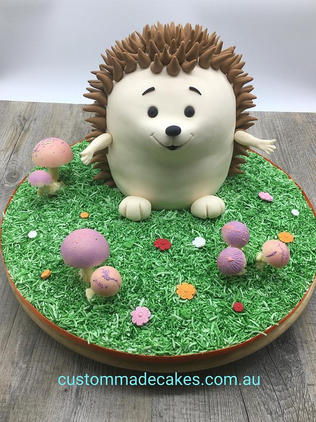 Groovy Hedgehog Cake Cake By Custom Made Cakes Cakesdecor Funny Birthday Cards Online Inifodamsfinfo