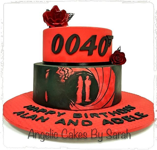 007 themed 40th Birthday Cake