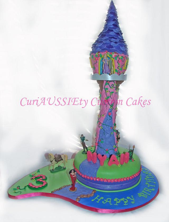 Repunzel tower cake