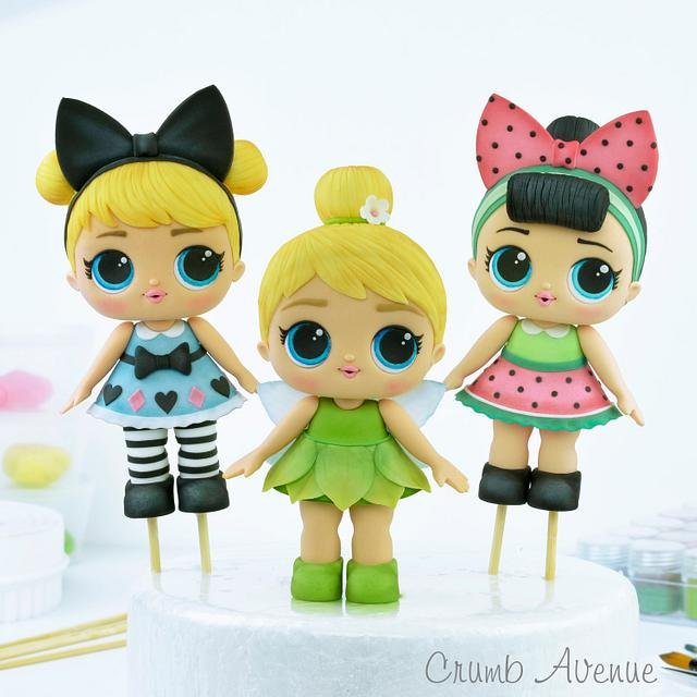 LOL Doll Cake Toppers :)