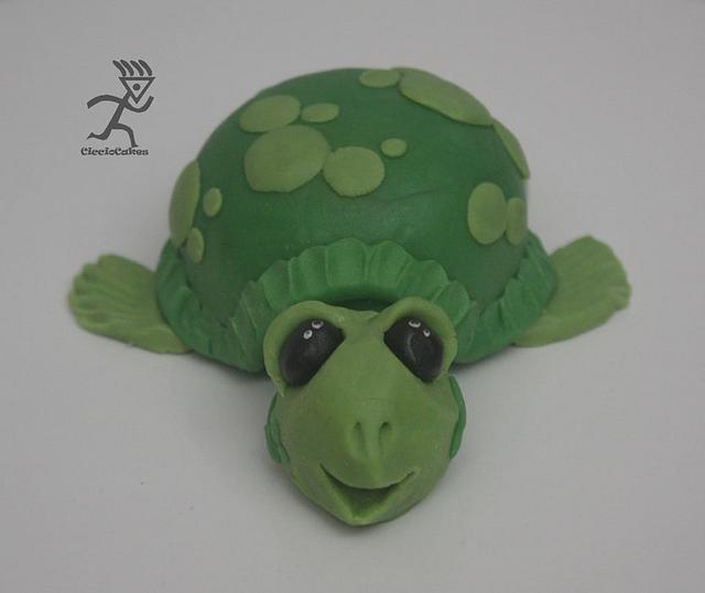 It's a Turtle Sand Castle Baby Shower Cake all edible