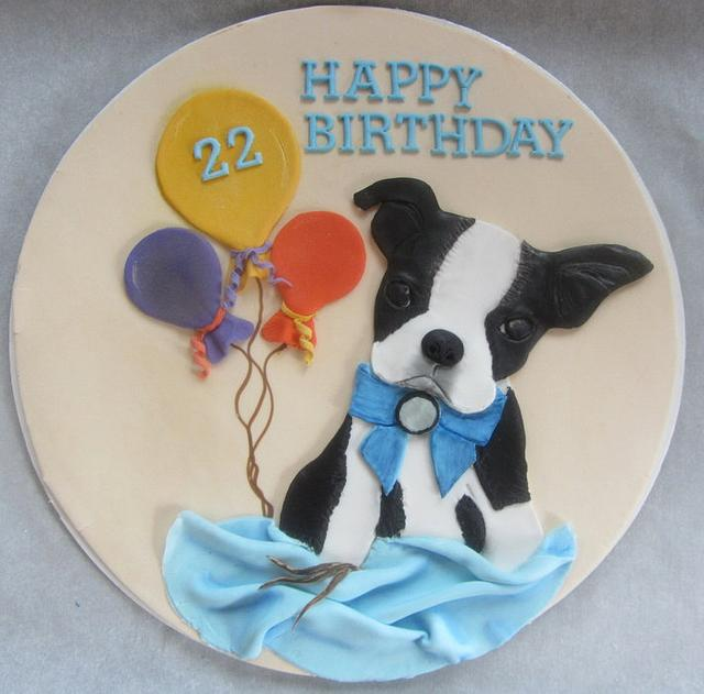 Pleasant Boston Terrier Cake Topper Cake By Cake Creations By Me Cakesdecor Personalised Birthday Cards Paralily Jamesorg