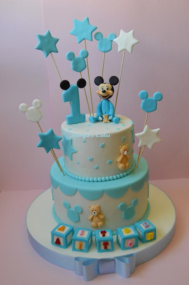 Baby Mikey birthdays cakes