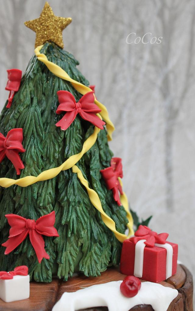 a winter woodland christmas tree