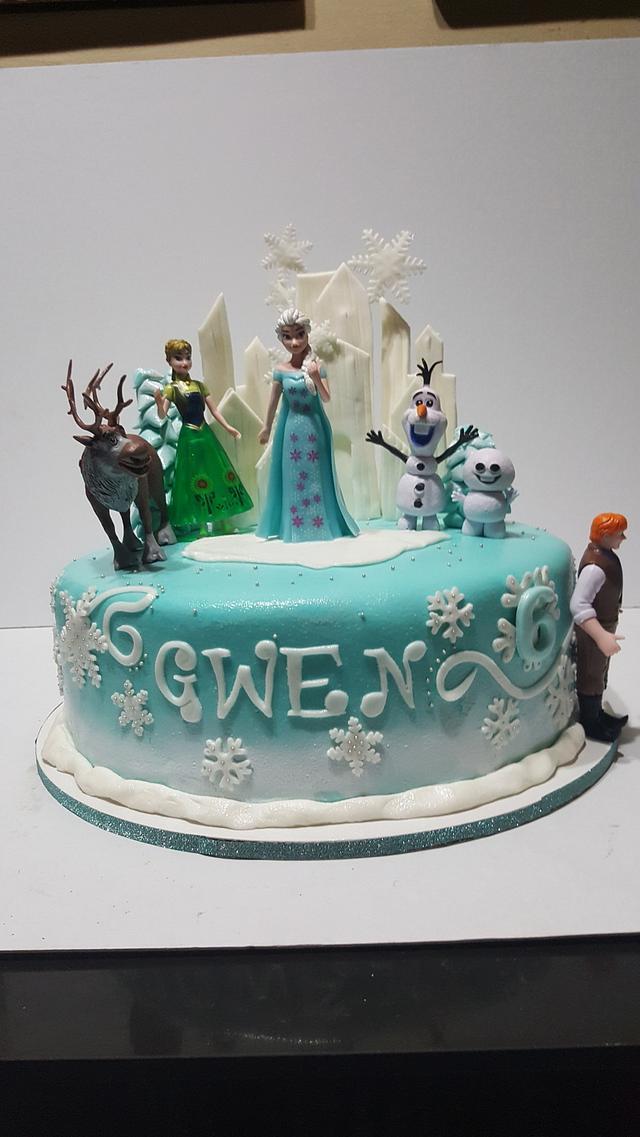Frozen themed cake but not blue