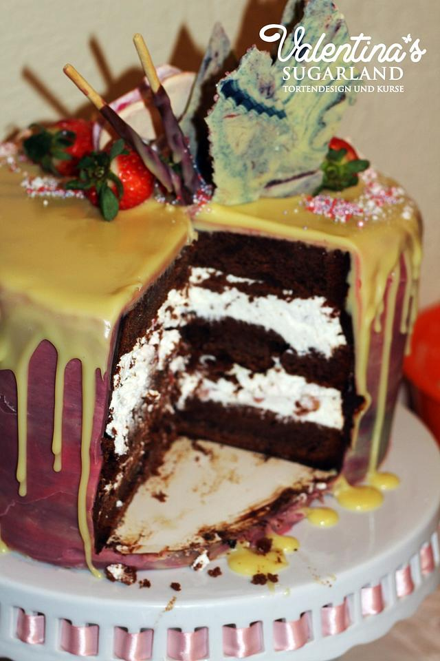 Heart drip cake tutorial