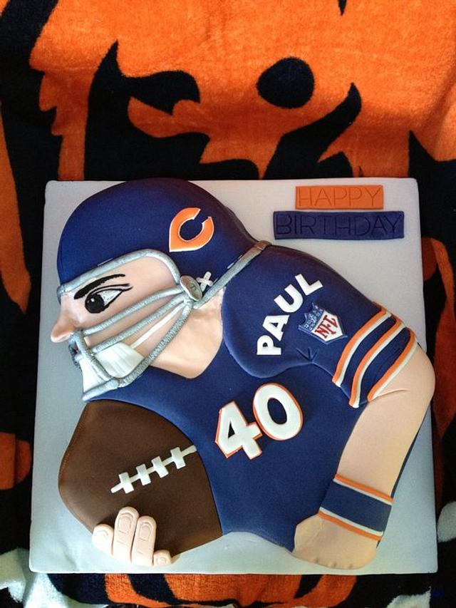40th Birthday cake for a Bears fan