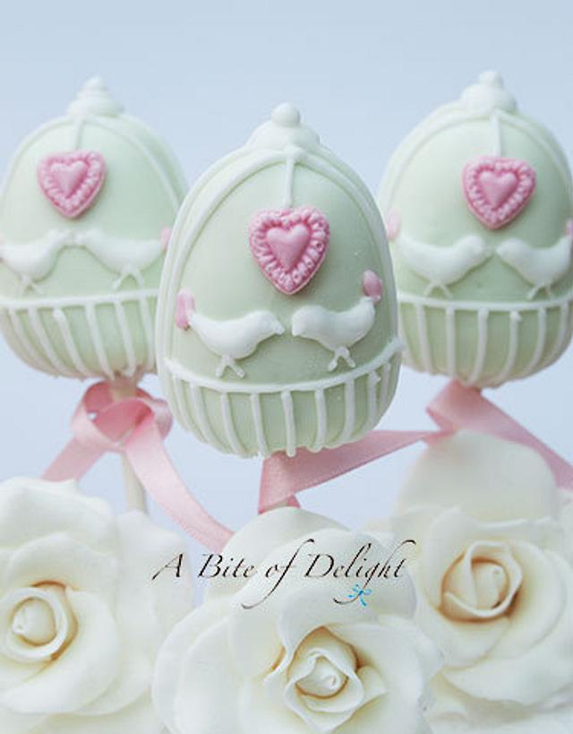 Love Birds Cake Pops
