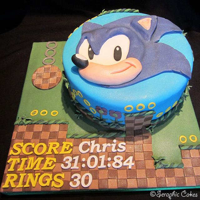 Sonic The Hedgehog Birthday Cake Cake By Seraphiccakes Cakesdecor