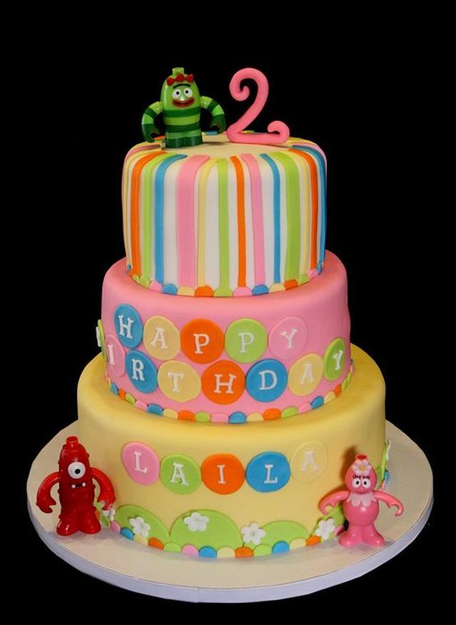 Yo Gabba Gabba Girly cake!
