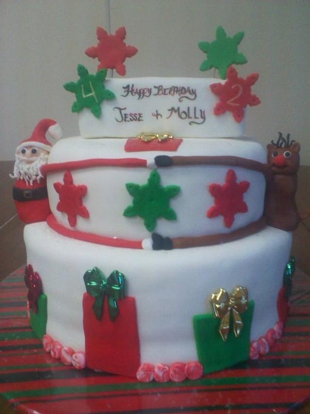 christmas B-day cake