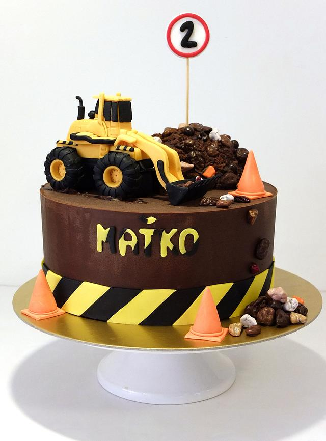 Peachy Excavator On A Construction Site Cake By Sweet Cakesdecor Funny Birthday Cards Online Alyptdamsfinfo