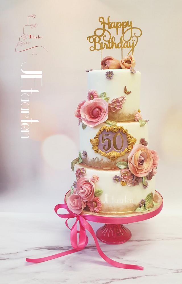 Prime Surprisebirthday 50 Years Birthday Cake Cake By Cakesdecor Funny Birthday Cards Online Elaedamsfinfo