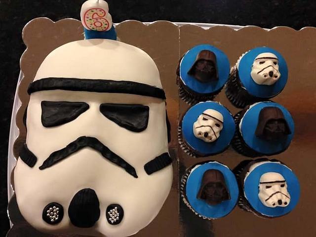 Astonishing Stormtrooper Birthday Cake Cake By Guppy Cakesdecor Personalised Birthday Cards Vishlily Jamesorg