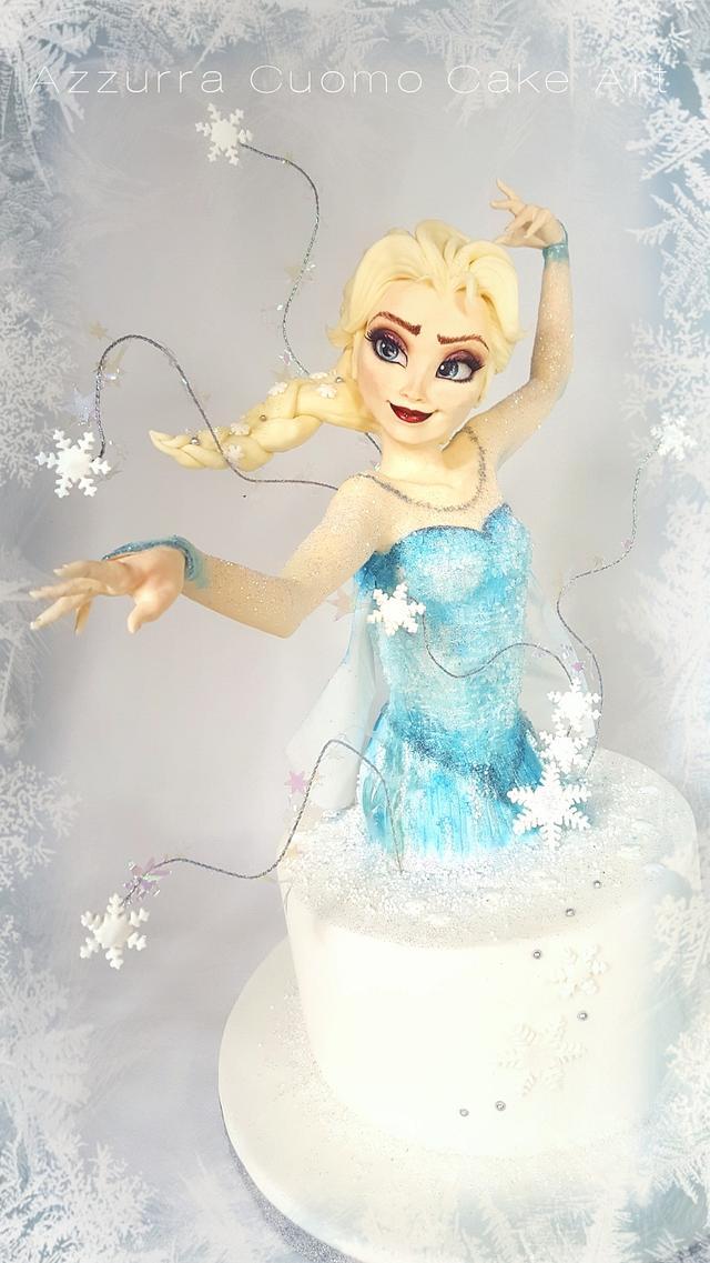 Elsa Frozen Cake❤