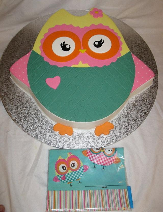 Owl Them to match Party Bags