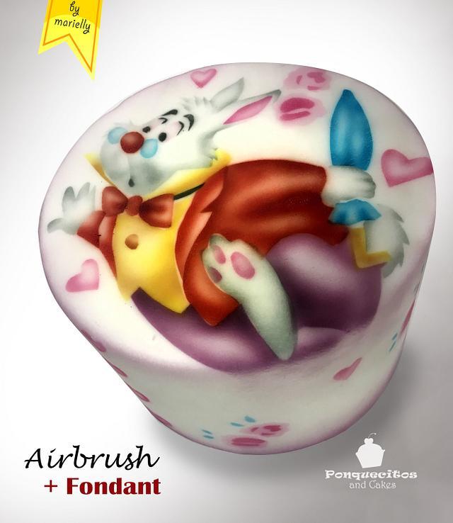 Airbrush Cake: White Rabbit