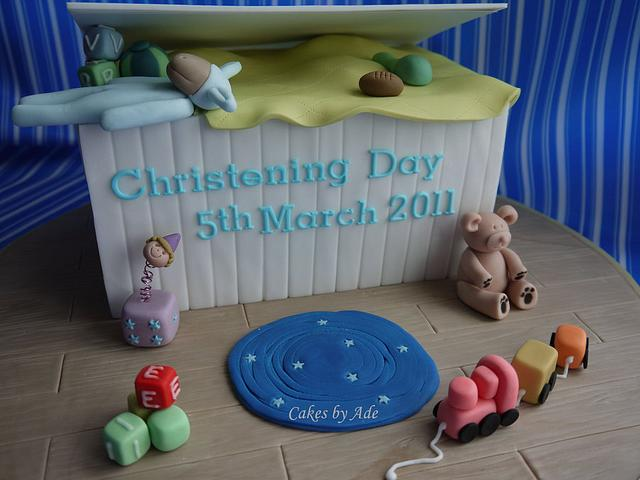 Toy Box Christening Cake - March 2011