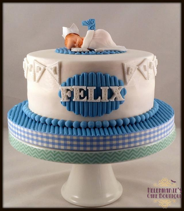 Excellent Baby Boys First Birthday Cake And Cupcakes Cake By Cakesdecor Funny Birthday Cards Online Inifofree Goldxyz