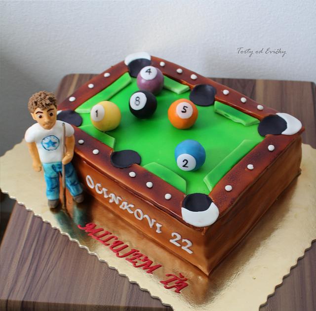 Strange Birthday Pool Table Cake By Cakes By Evicka Cakesdecor Personalised Birthday Cards Akebfashionlily Jamesorg