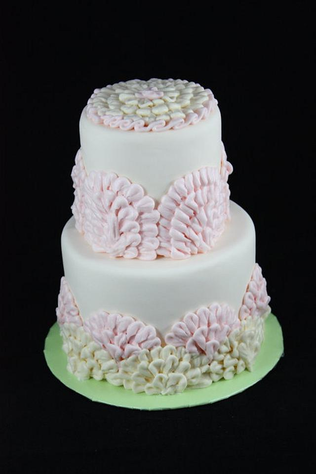 Pink and Ivory Ruffles