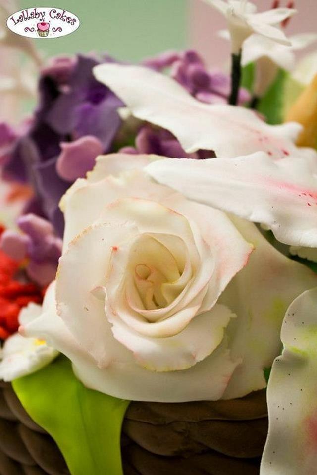 gum paste flowers bouquet