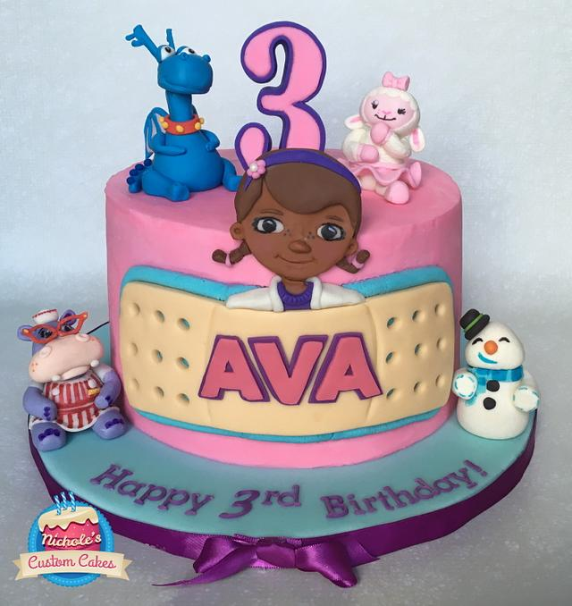 Surprising Doc Mcstuffins Birthday Cake Cake By Cakesdecor Birthday Cards Printable Nowaargucafe Filternl