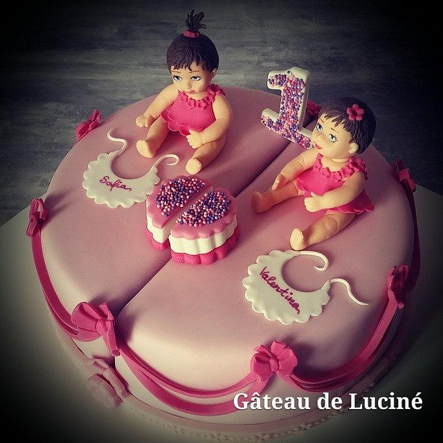 B-day cake for twin sisters