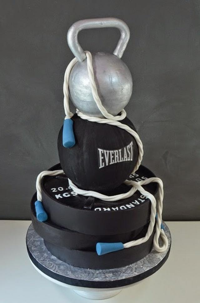 Workout Weights Groom's Cake