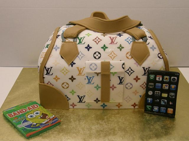 White Louis Vuitton Purse