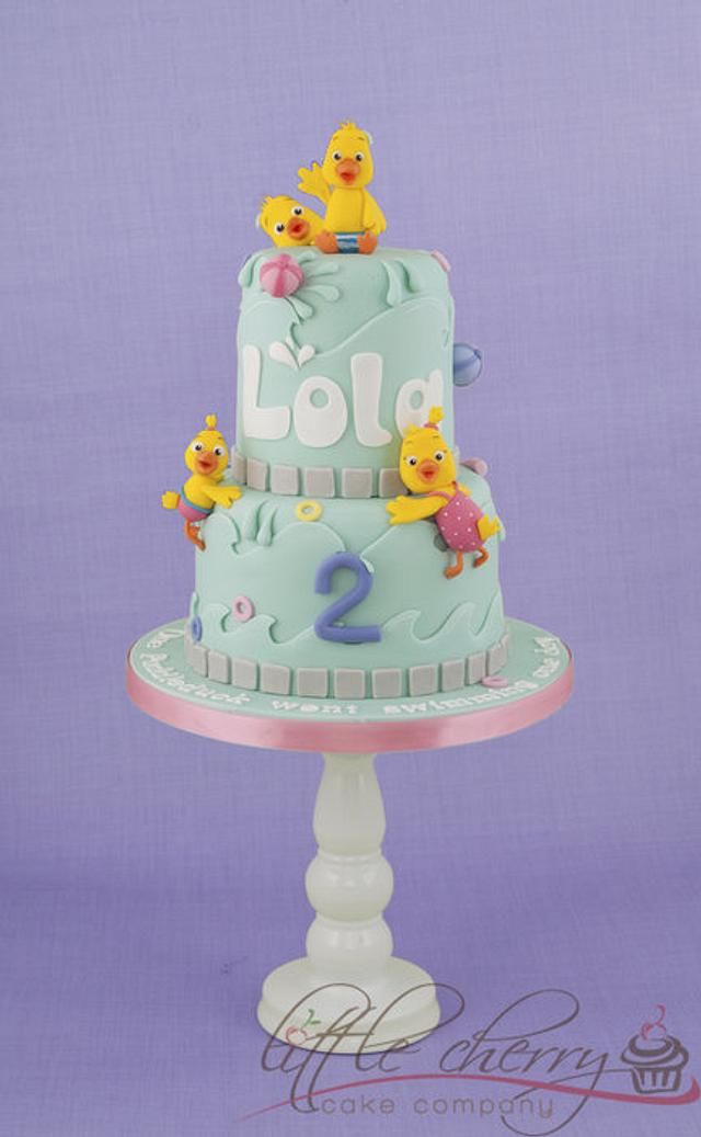 Puddle Duck Swimming Cake