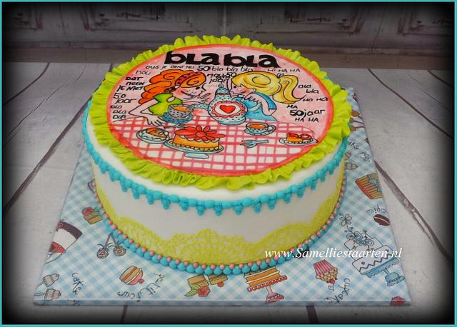Brilliant Handpainted Blond Amsterdam Cake By Sam Nels Taarten Cakesdecor Personalised Birthday Cards Epsylily Jamesorg